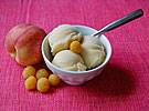 Golden Raspberry and White Peach Sorbet